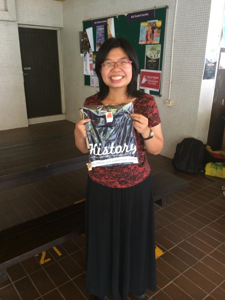 Yay! I got the History identity shirt!