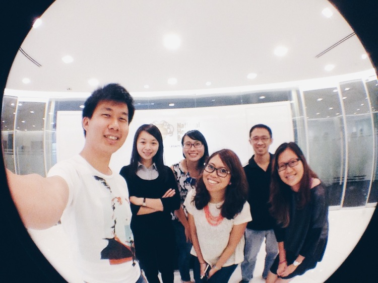 My fellow lovely NHB colleagues and my internship partner, Jing Jie (first from the left)