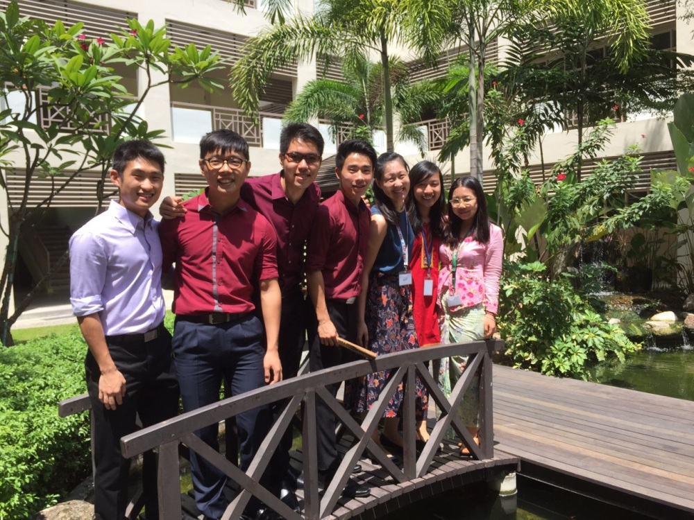A photo we took during Racial Harmony Day